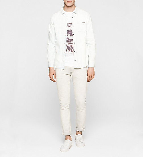 Slim Printed T-shirt - BRIGHT WHITE - CK JEANS CLOTHES - detail image 1