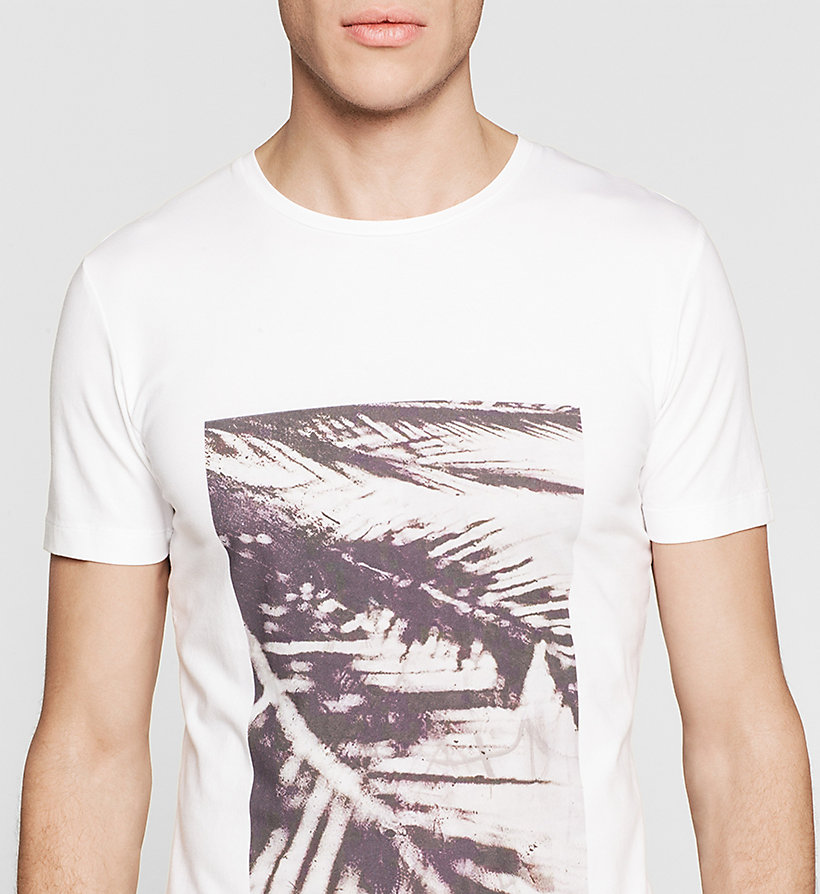 CKJEANS Slim Printed T-shirt - BRIGHT WHITE - CK JEANS T-SHIRTS - detail image 2