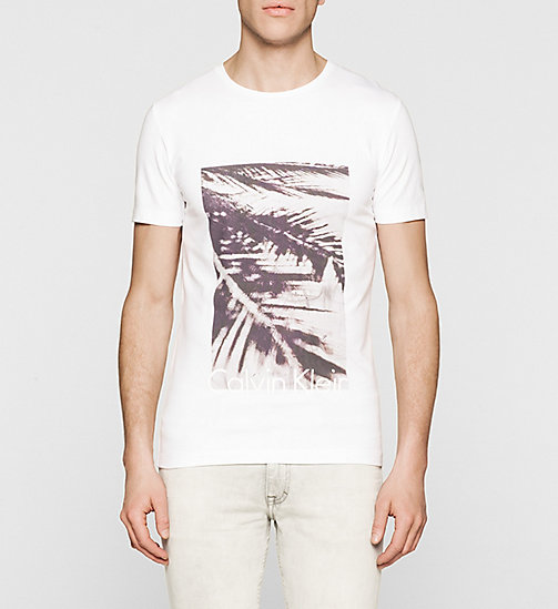 CKJEANS Slim Printed T-shirt - BRIGHT WHITE - CK JEANS Up to 50% - main image