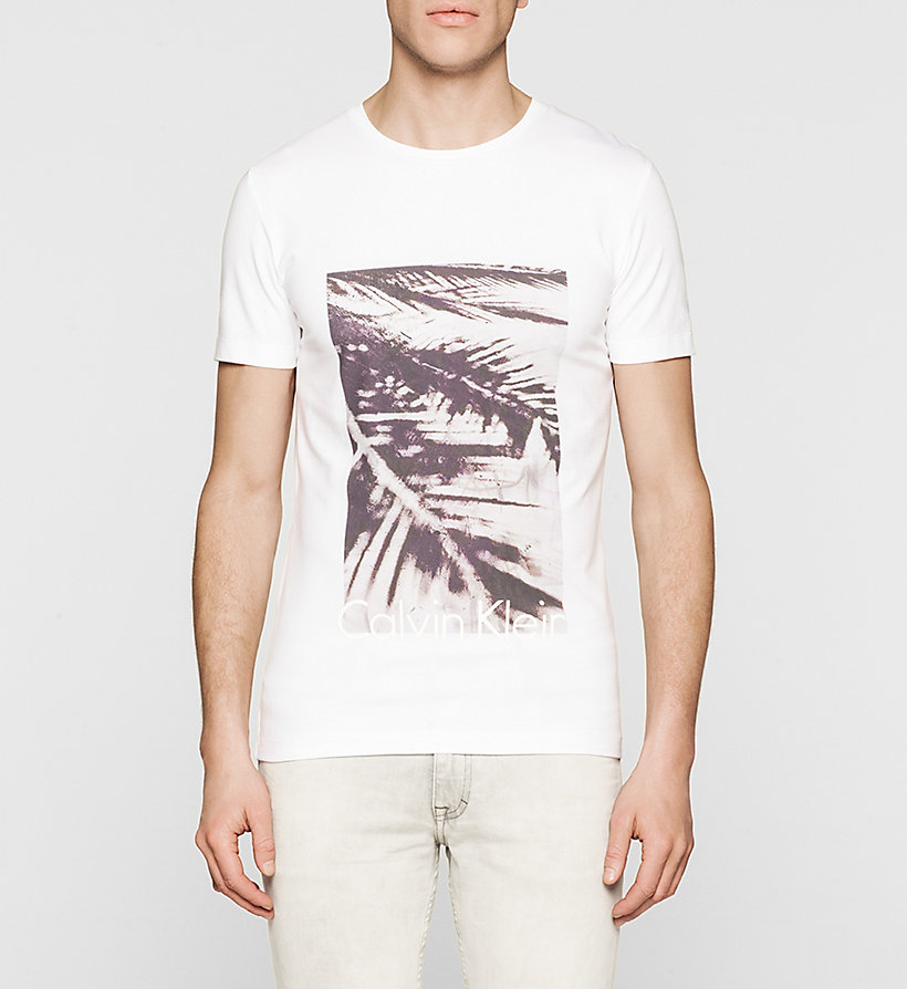 CKJEANS Slim Printed T-shirt - BRIGHT WHITE - CK JEANS T-SHIRTS - main image