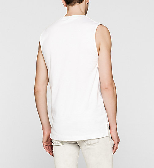 Printed Tank Top - BRIGHT WHITE - CK JEANS CLOTHES - detail image 1