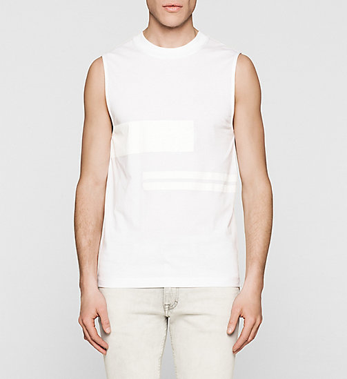 Printed Tank Top - BRIGHT WHITE - CK JEANS T-SHIRTS - main image