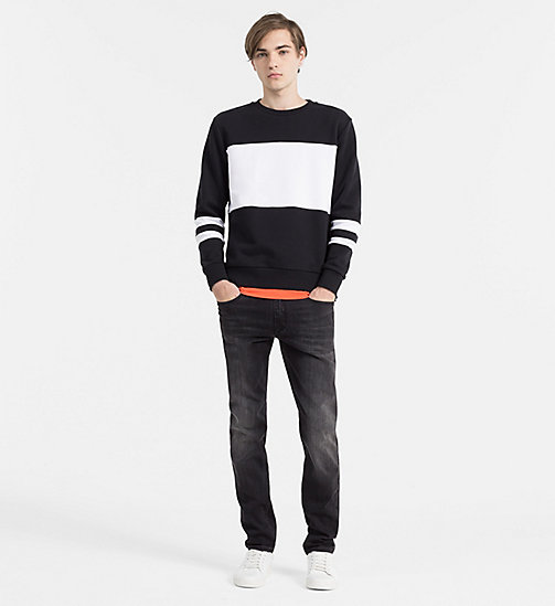 Contrast Panel Sweatshirt - CK BLACK - CALVIN KLEIN JEANS CLOTHES - detail image 1
