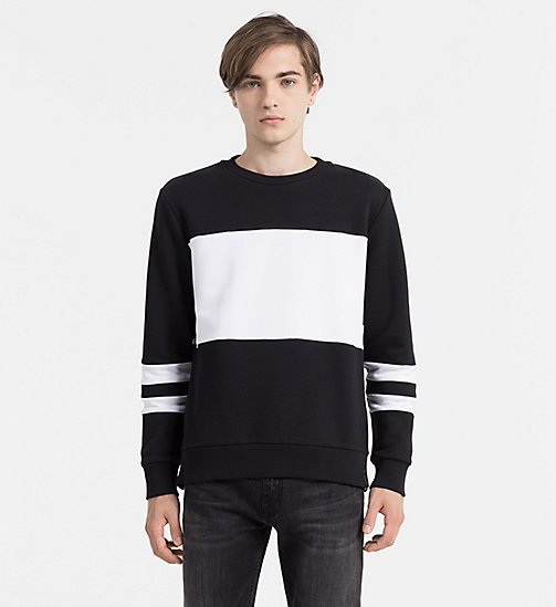 Contrast Panel Sweatshirt - CK BLACK - CALVIN KLEIN JEANS CLOTHES - main image