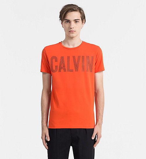 CALVIN KLEIN JEANS Slim T-shirt met logo - REBEL RED - CALVIN KLEIN JEANS ACTION-PACKED - main image