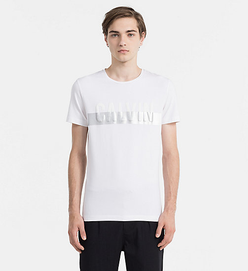 CALVIN KLEIN JEANS Slim T-shirt met logo - BRIGHT WHITE - CALVIN KLEIN JEANS ACTION-PACKED - main image