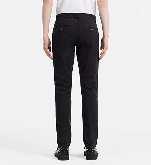 CALVIN KLEIN JEANS Regular Chino Trousers - CK BLACK - CALVIN KLEIN JEANS TROUSERS - detail image 1