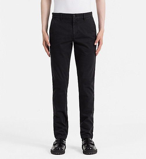 CALVIN KLEIN JEANS Regular Chino Trousers - CK BLACK - CALVIN KLEIN JEANS TROUSERS - main image