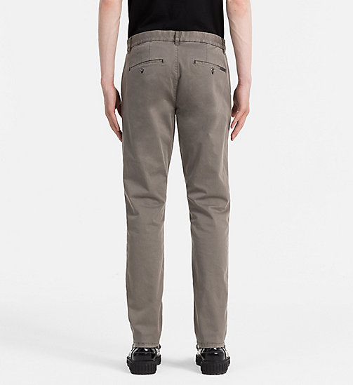 CALVIN KLEIN JEANS Regular Chino Trousers - MAJOR BROWN - CALVIN KLEIN JEANS TROUSERS - detail image 1