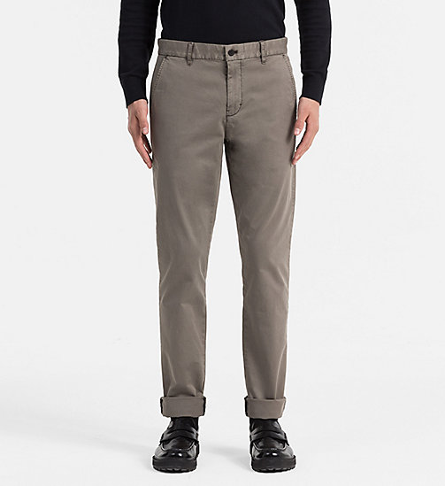 CALVIN KLEIN JEANS Regular Chino Trousers - MAJOR BROWN - CALVIN KLEIN JEANS TROUSERS - main image