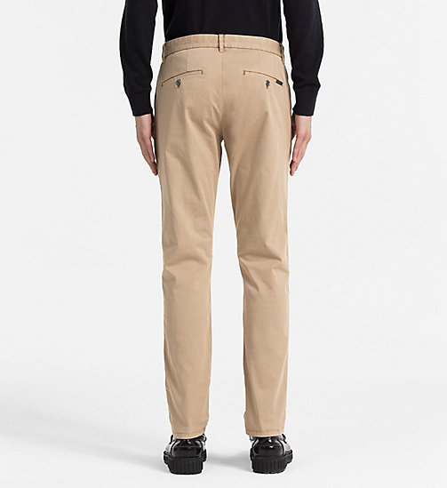 CALVIN KLEIN JEANS Regular Chino Trousers - TANNIN - CALVIN KLEIN JEANS TROUSERS - detail image 1