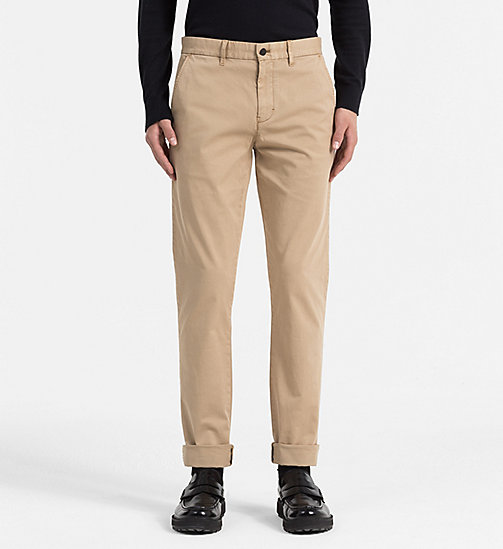 CALVIN KLEIN JEANS Regular Chino Trousers - TANNIN - CALVIN KLEIN JEANS TROUSERS - main image