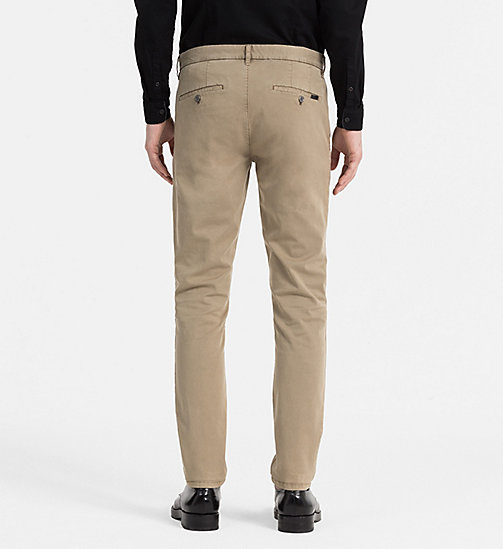 CALVIN KLEIN JEANS Regular Chino Trousers - ELMWOOD - CALVIN KLEIN JEANS TROUSERS - detail image 1