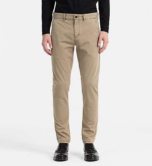 CALVIN KLEIN JEANS Regular Chino Trousers - ELMWOOD - CALVIN KLEIN JEANS TROUSERS - main image