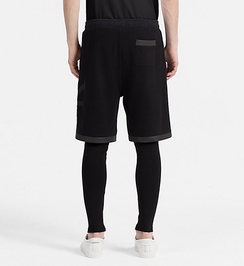 CALVIN KLEIN JEANS 2-in-1 Track Shorts - CK BLACK - CALVIN KLEIN JEANS ACTION-PACKED - detail image 1