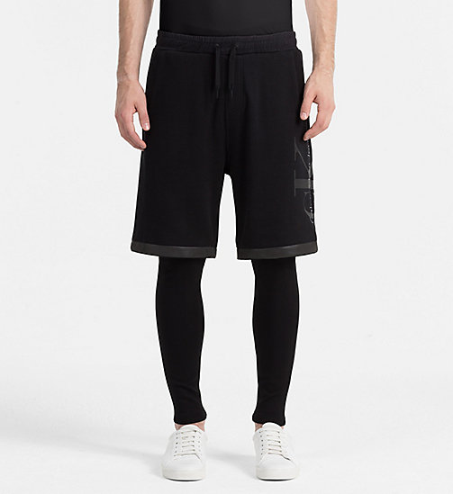 CALVIN KLEIN JEANS 2-in-1 korte trainingsbroek - CK BLACK - CALVIN KLEIN JEANS ACTION-PACKED - main image