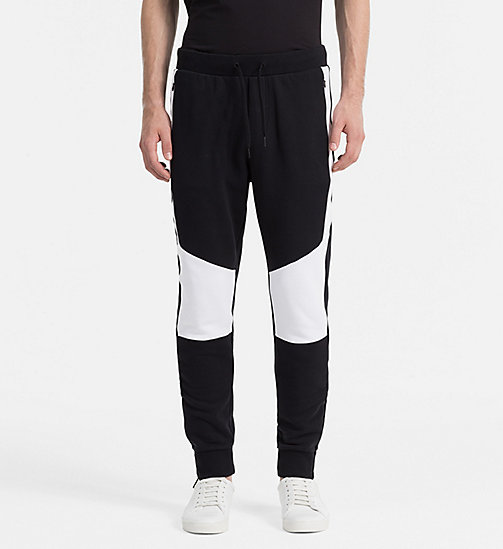 CALVIN KLEIN JEANS Contrast Panel Sweatpants - CK BLACK - CALVIN KLEIN JEANS ACTION-PACKED - main image