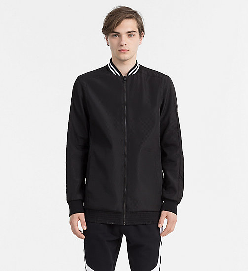 CALVIN KLEIN JEANS Mid Length Bomber Jacket - CK BLACK - CALVIN KLEIN JEANS ACTION-PACKED - main image