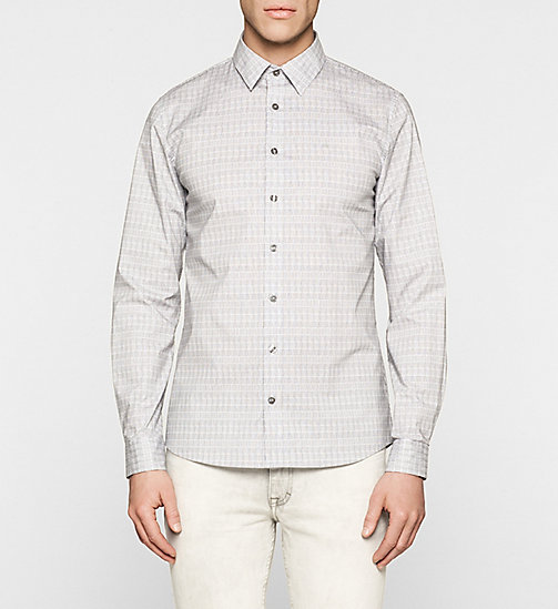 Slim Poplin Shirt - BRIGHT WHITE / PHANTOM - CK JEANS  - main image