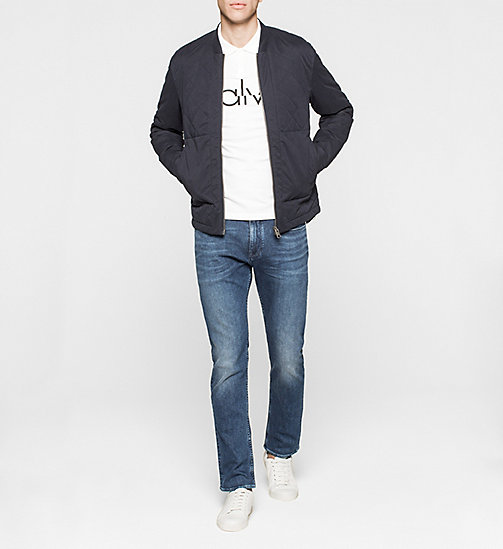 CKJEANS Slim Cotton Piqué Polo - BRIGHT WHITE - CK JEANS  - detail image 1