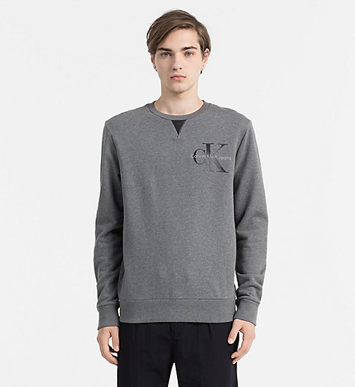 CALVIN KLEIN JEANS Logo Sweatshirt - MID GREY HEATHER - CALVIN KLEIN JEANS CLOTHES - main image