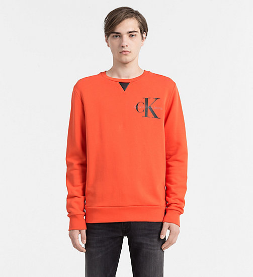 CALVIN KLEIN JEANS Logo Sweatshirt - REBEL RED WASHED - CALVIN KLEIN JEANS SWEATSHIRTS - main image