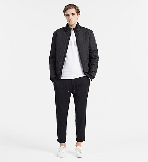 CALVIN KLEIN JEANS Padded Bomber Jacket - CK BLACK - CALVIN KLEIN JEANS OUTERWEAR - detail image 1