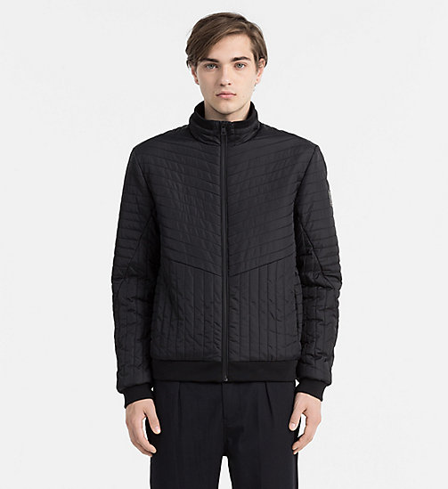 CALVIN KLEIN JEANS Padded Bomber Jacket - CK BLACK - CALVIN KLEIN JEANS OUTERWEAR - main image