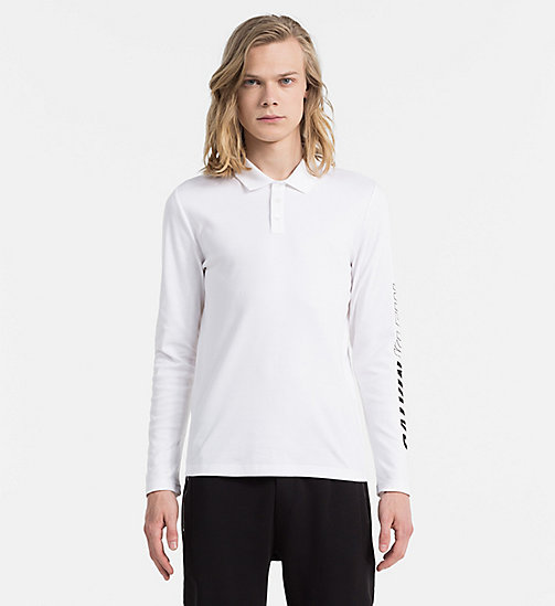 CALVIN KLEIN JEANS Longsleeve Polo - BRIGHT WHITE - CALVIN KLEIN JEANS POLO SHIRTS - main image