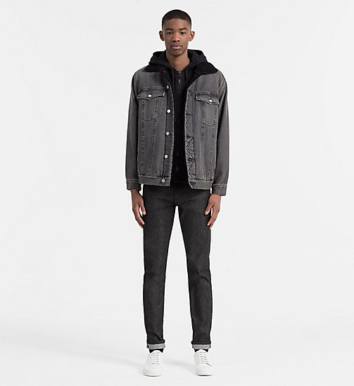 CALVIN KLEIN JEANS Hooded Zip-Through Cardigan - CK BLACK - CALVIN KLEIN JEANS CARDIGANS - detail image 1