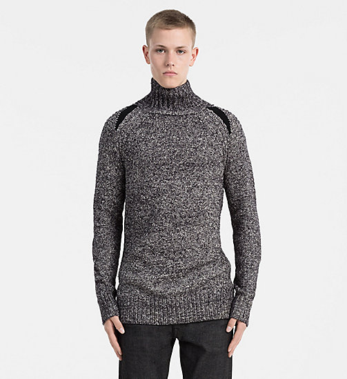 CALVIN KLEIN JEANS Heathered Turtleneck Sweater - CK BLACK - CALVIN KLEIN JEANS COLD COMFORTS - main image