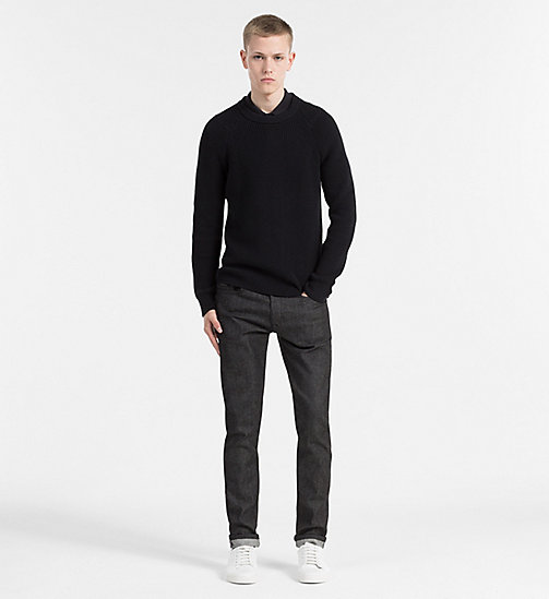 Cotton Wool Sweater - CK BLACK - CALVIN KLEIN JEANS JUMPERS - detail image 1