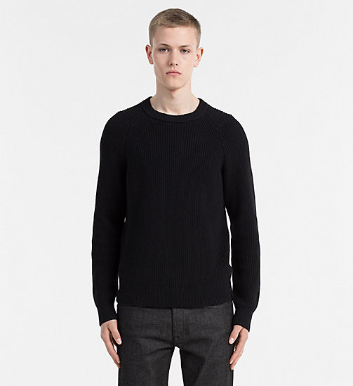 Cotton Wool Sweater - CK BLACK - CALVIN KLEIN JEANS JUMPERS - main image