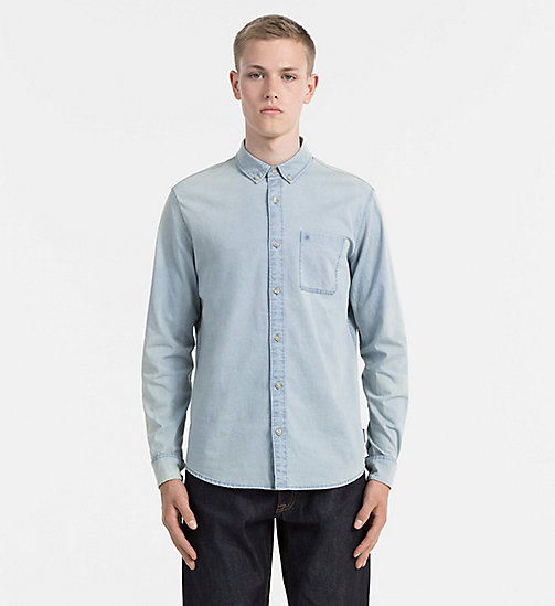 CALVIN KLEIN JEANS Slim Chambray Shirt - LIGHT INDIGO - CALVIN KLEIN JEANS CASUAL SHIRTS - main image