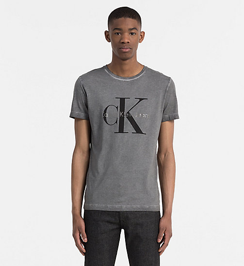 CALVIN KLEIN JEANS Washed Logo T-shirt - MID GREY - CALVIN KLEIN JEANS T-SHIRTS - main image