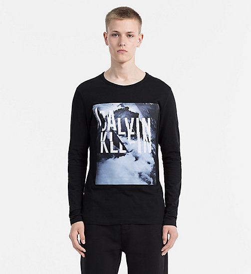 CALVIN KLEIN JEANS Printed Longsleeve T-shirt - CK BLACK - CALVIN KLEIN JEANS COLD COMFORTS - main image