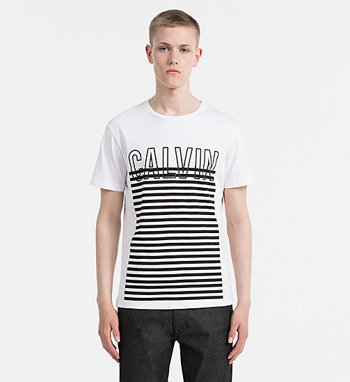 Regular Logo T-shirt - BRIGHT WHITE - CALVIN KLEIN JEANS T-SHIRTS - main image