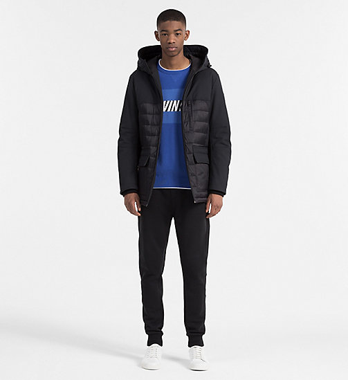 CALVIN KLEIN JEANS Material Mix Padded Jacket - CK BLACK - CALVIN KLEIN JEANS JACKETS - detail image 1