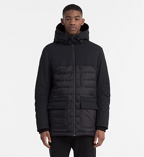 CALVIN KLEIN JEANS Material Mix Padded Jacket - CK BLACK - CALVIN KLEIN JEANS JACKETS - main image