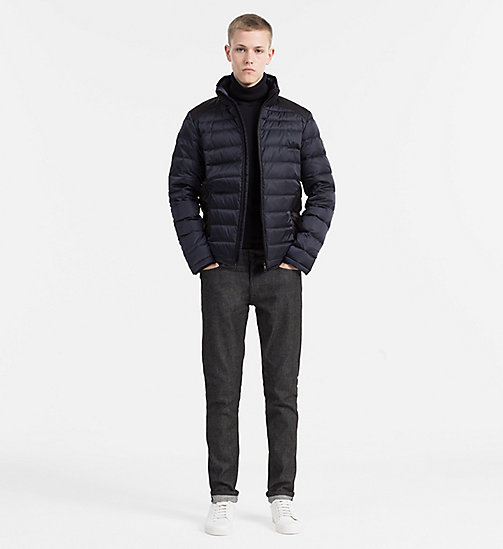 CALVIN KLEIN JEANS Packable Quilted Down Jacket - NIGHT SKY/CK BLACK - CALVIN KLEIN JEANS JACKETS - detail image 1