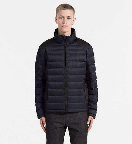 CALVIN KLEIN JEANS Packable Quilted Down Jacket - NIGHT SKY/CK BLACK - CALVIN KLEIN JEANS JACKETS - main image