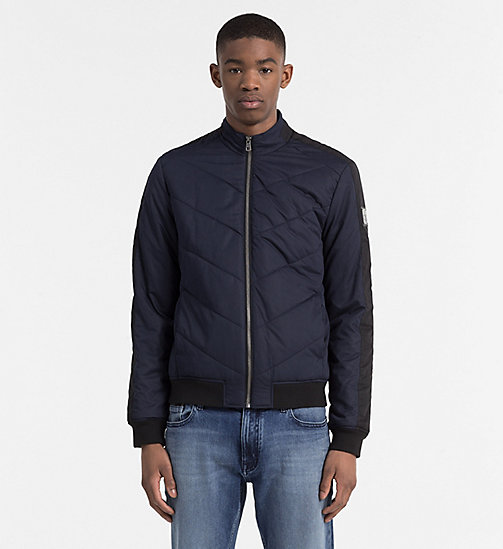 CALVIN KLEIN JEANS Padded Racer Jacket - NIGHT SKY - CALVIN KLEIN JEANS JACKETS - main image