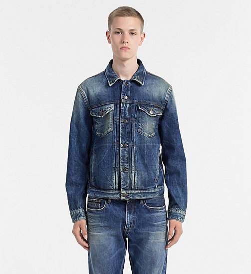 CALVIN KLEIN JEANS Denim Trucker Jacket - PEPPERY - CALVIN KLEIN JEANS NEW ARRIVALS - main image