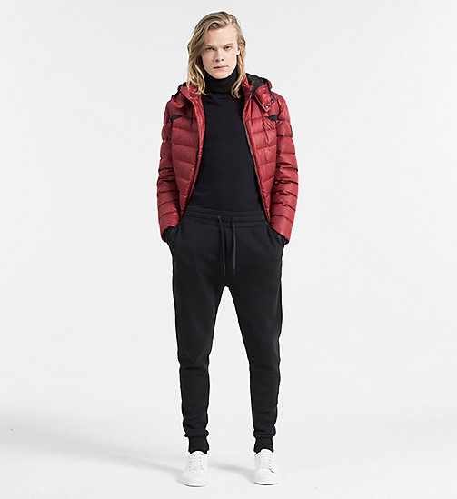 Hooded Down Jacket - MERLOT - CALVIN KLEIN JEANS CLOTHES - detail image 1