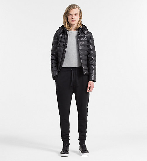 Hooded Down Jacket - CK BLACK - CALVIN KLEIN JEANS CLOTHES - detail image 1