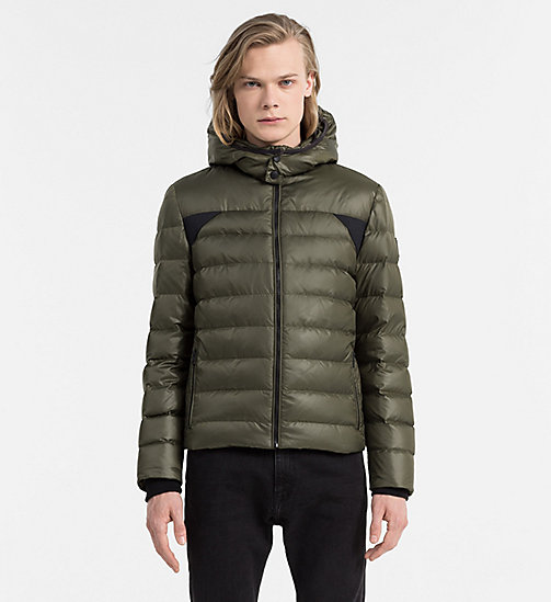Hooded Down Jacket - GRAPE LEAF - CALVIN KLEIN JEANS CLOTHES - main image