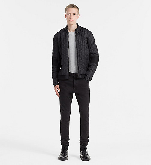 CALVIN KLEIN JEANS Quilted Racer Jacket - CK BLACK - CALVIN KLEIN JEANS JACKETS - detail image 1