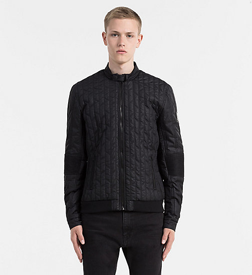 CALVIN KLEIN JEANS Quilted Racer Jacket - CK BLACK - CALVIN KLEIN JEANS JACKETS - main image