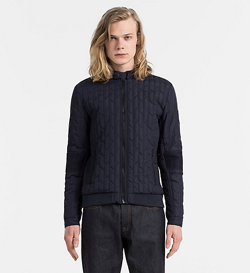 CALVIN KLEIN JEANS Quilted Racer Jacket - NIGHT SKY - CALVIN KLEIN JEANS JACKETS - main image