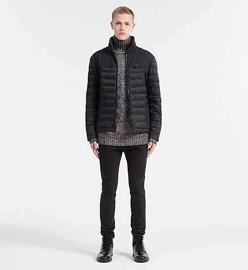 Material Mix Padded Jacket - CK BLACK - CALVIN KLEIN JEANS CLOTHES - detail image 1